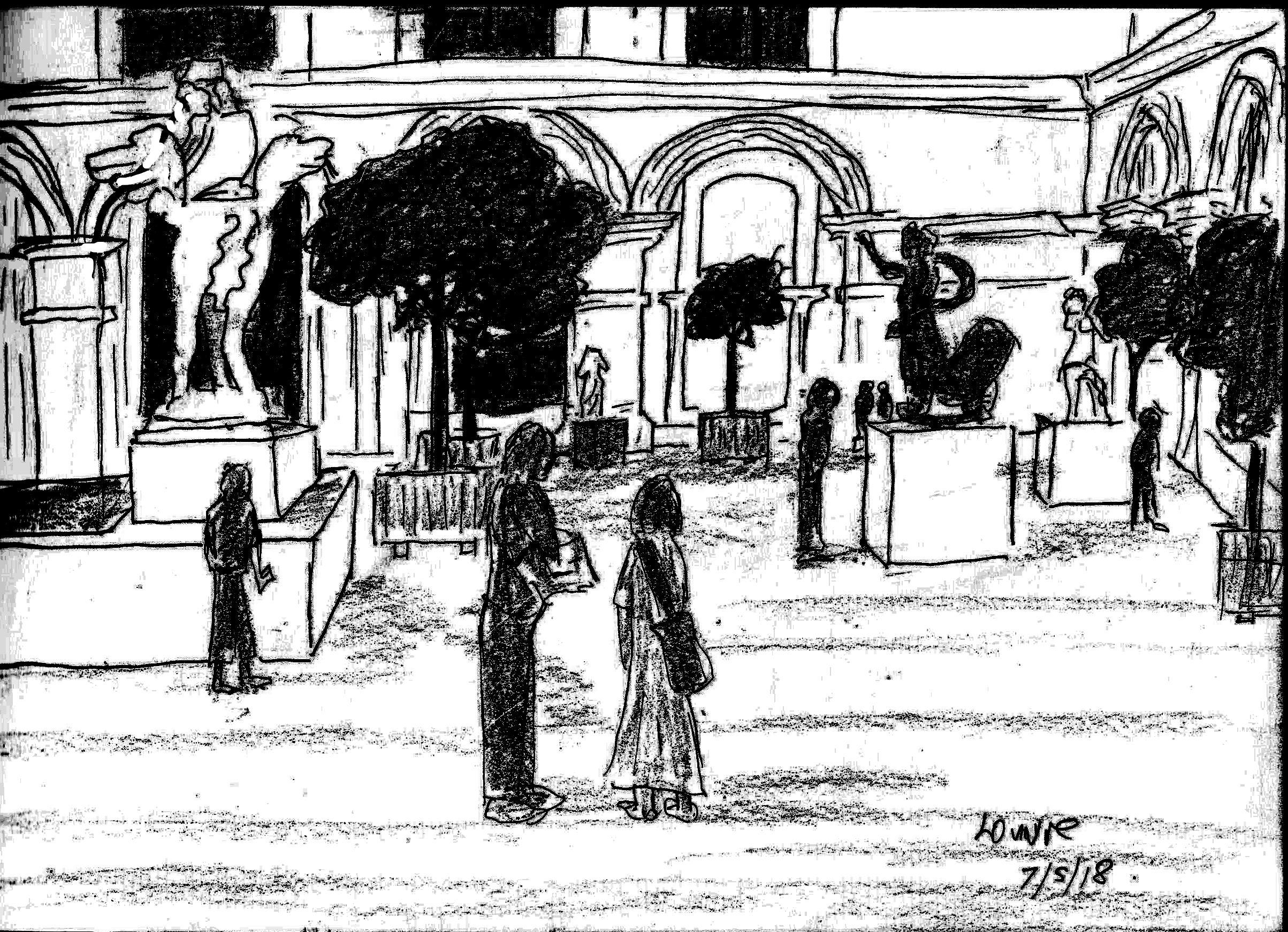 louvre sketch dark