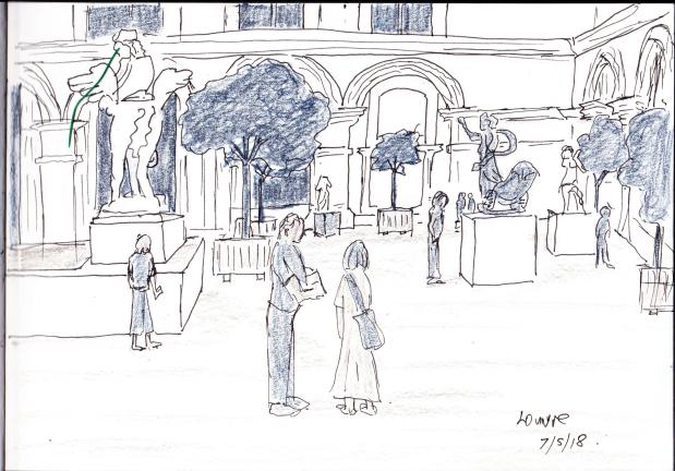 louvre sketch